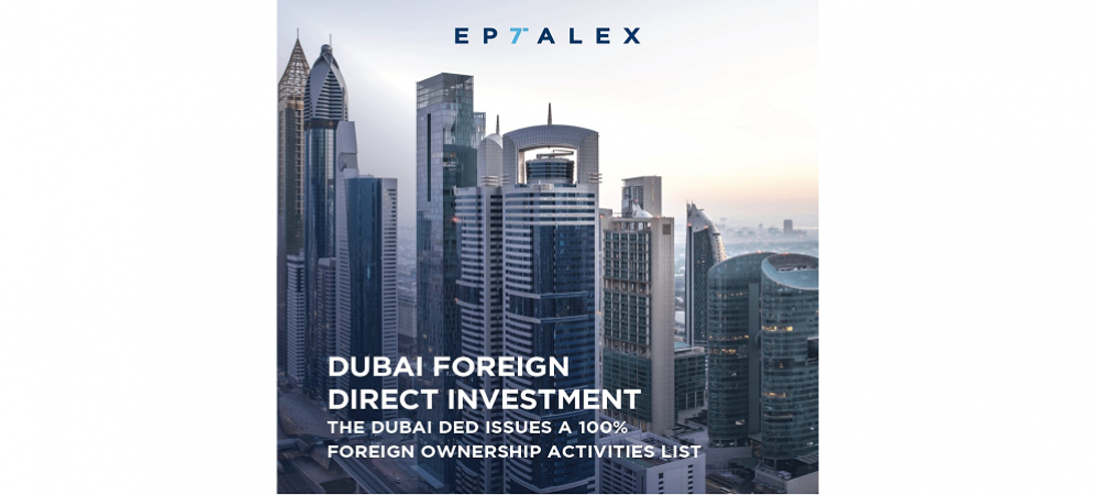 DED Dubai - Foreign Direct Investment